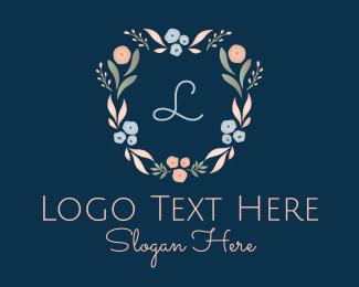Floral - Dainty Floral Letter logo design