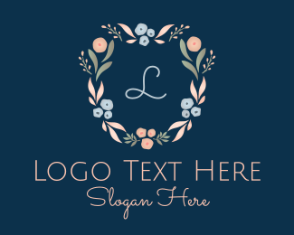 Girly - Dainty Floral Letter logo design