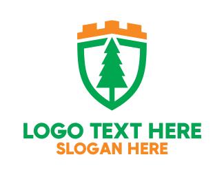 Shield - Royal Pine Shield logo design