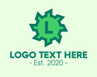 Coronavirus - Green Coronavirus Lettermark logo design