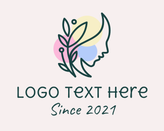 Women Empowerment - Colorful Nature Woman  logo design