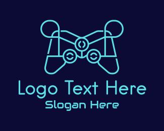 Twitch - Blue Game Console Tech logo design