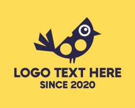 Little - Blue Little Bird logo design