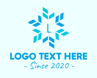 Frost - Blue Star Snowflake logo design