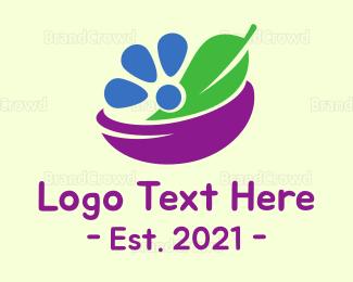 Organic Food - Nature Bowl logo design