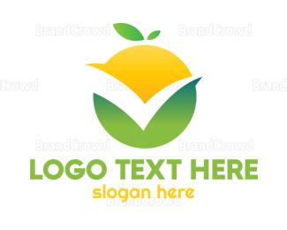 Approval - Orange Check logo design