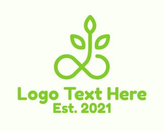 Loop - Infinity Loop Plant logo design
