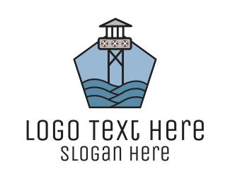 Lifeguard - Lifeguard Tower Sea logo design
