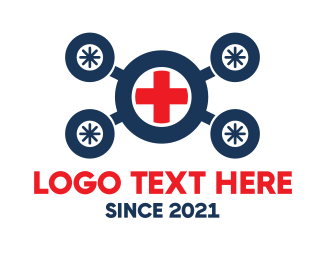 Help - Medical Drone logo design