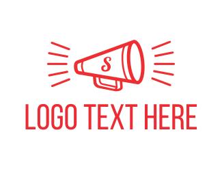 Speak - S Megaphone logo design