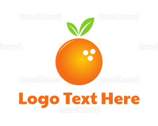 Green And Orange - Bowling Orange logo design