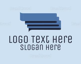 Translation - Blue Conversations logo design
