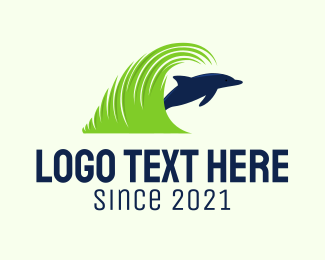 Grass - Dolphin Lawn Care logo design