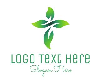 Herbal - Cross Flower logo design
