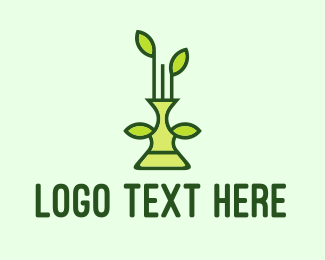 Ecological - Plant Vase logo design