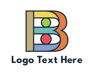 Eyes - Colorful Bold B logo design