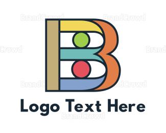 Barcelona - Colorful Bold B logo design