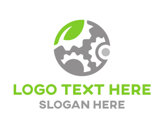Cog - Eco Engine logo design