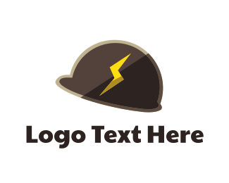 Baseball Hat - Electrician Helmet logo design
