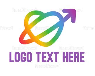 Rainbow - Rainbow Arrow Loop logo design