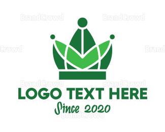 Tiara - Green Nature Tiara logo design