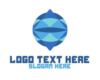 Crystal - Crystal Circle Globe logo design