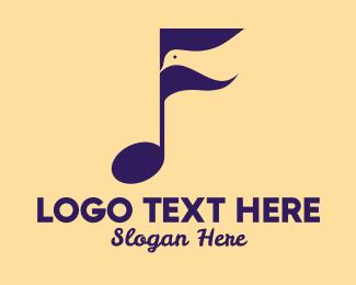 Song - Bird Song Music logo design