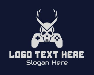 Ps5 - Horned Skull Controller logo design