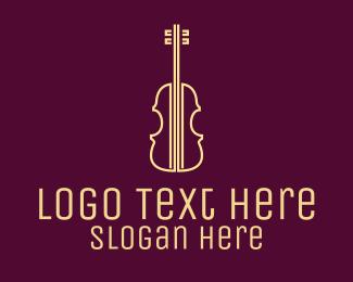 Classical Music - Yellow Violin Music School logo design