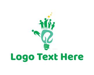 Flashlight - Community Lighting logo design