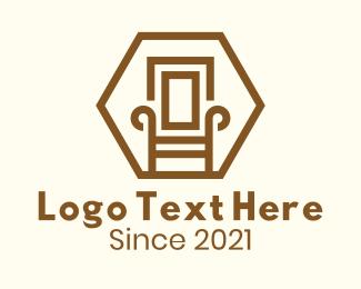 Wooden - Wooden Armchair Furniture logo design