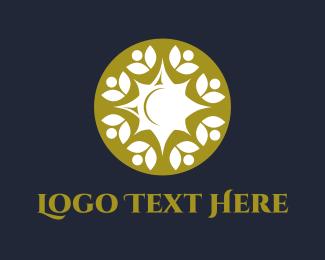 Bronze - Floral Emblem logo design
