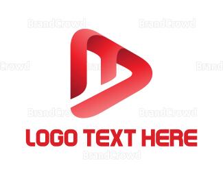 Video Player - Media Letter logo design