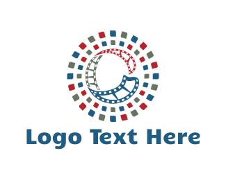 Movie Theater - Film Letter C logo design