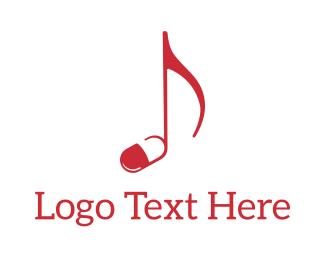 Medication - Music Pill logo design