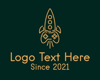 Control Pad - Rocket Game Controller logo design