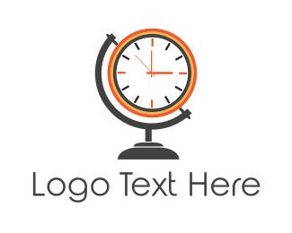 Clock - Time World  logo design
