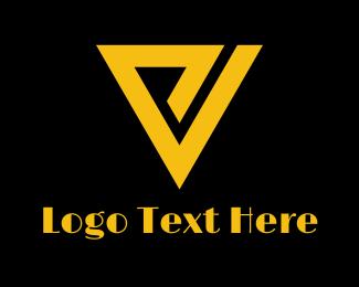 Triangular - Retro P & V logo design