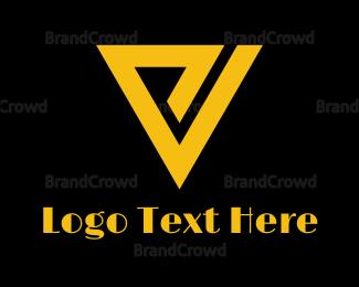 Black And Yellow - Retro P & V logo design