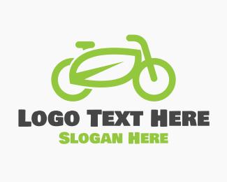 Bike - Green Eco Bike logo design