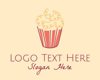 Popcorn - Movie Popcorn Snack logo design