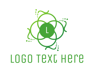 Heavenly - Green Ornamental Lettermark logo design