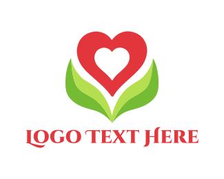 Mom - Heart Blossom logo design