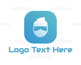 Hacker - Virtual Reality App logo design