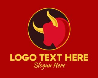Asia - Chinese Zodiac Ox logo design