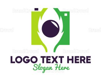 Electronics Boutique - Green Nature Lens logo design