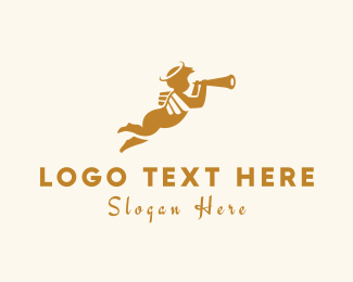 Angel - Trumpet Angel logo design