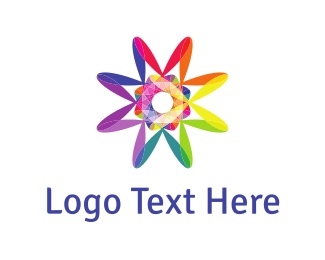Optical - Psychedelic Rainbow logo design