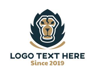 Strenght - Powerful Lion logo design