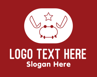 Animal - Red Star Crab  logo design